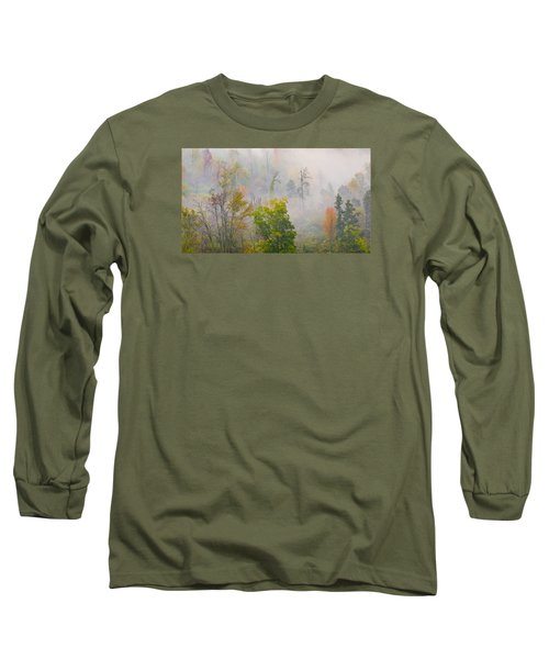 Long Sleeve T-Shirt featuring the photograph Woods From Afar by Wanda Krack