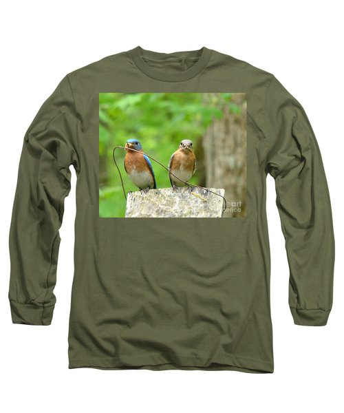 Long Sleeve T-Shirt featuring the photograph Working Couple by Rand Herron