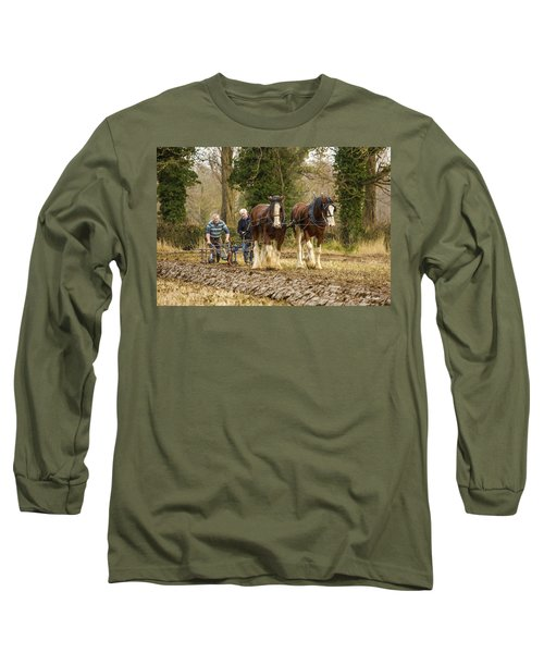 Working Horses Long Sleeve T-Shirt by Roy McPeak