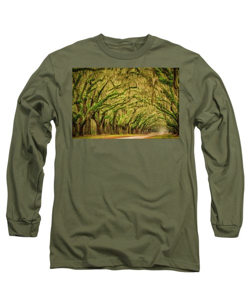 Wormsloe Drive Long Sleeve T-Shirt by Phyllis Peterson