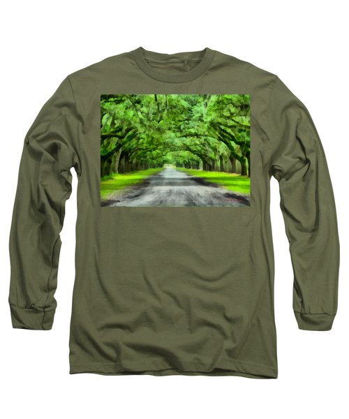 Wormsloe Plantation Long Sleeve T-Shirt