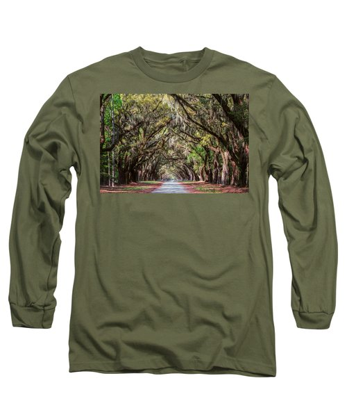 Wormsloe Plantation Oaks Long Sleeve T-Shirt