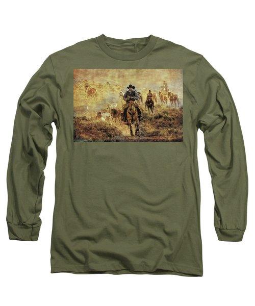 A Dusty Wyoming Wrangle Long Sleeve T-Shirt