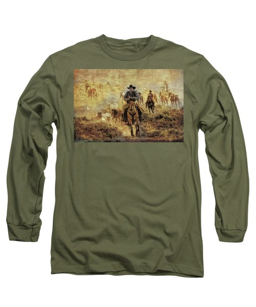 A Dusty Wyoming Wrangle Long Sleeve T-Shirt