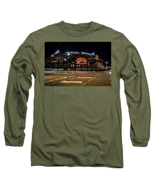 Wrigley Field Marquee At Night Long Sleeve T-Shirt