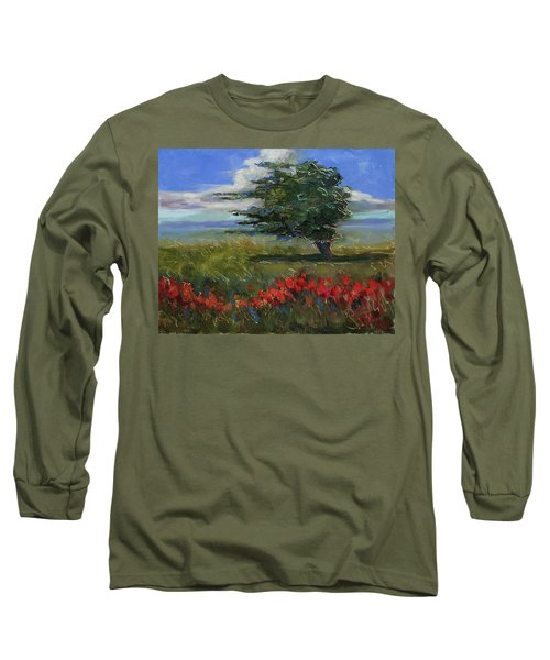 Long Sleeve T-Shirt featuring the painting Wyoming Gentle Breeze by Billie Colson
