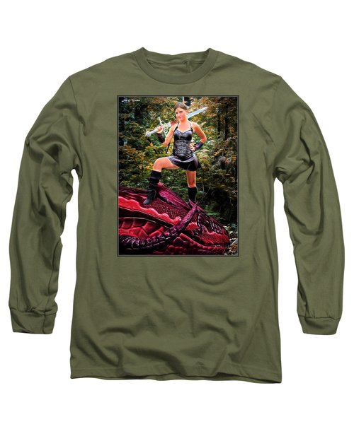 Xena Meets Dragon Long Sleeve T-Shirt