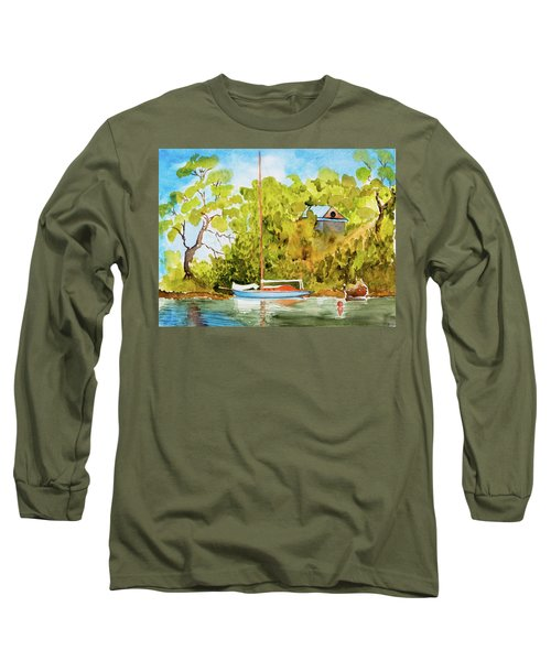 Yacht Weene' In Barnes Bay  Long Sleeve T-Shirt