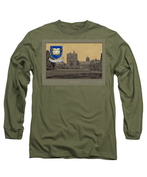 Yale University Building With Crest Long Sleeve T-Shirt