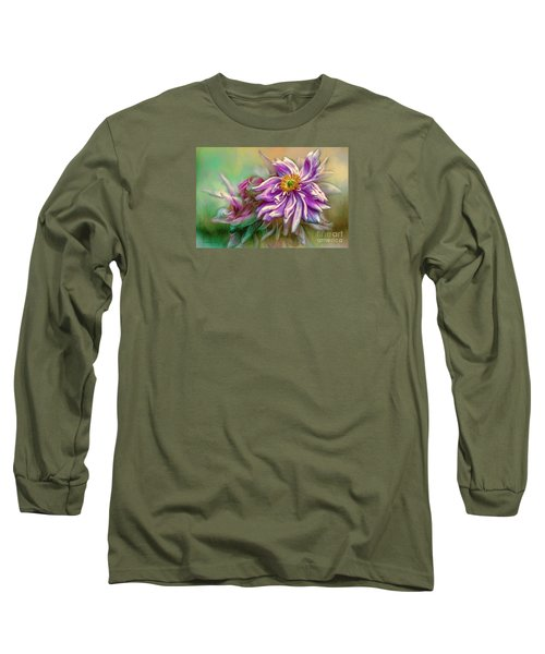 Year Of Mercy Long Sleeve T-Shirt by Jean OKeeffe Macro Abundance Art