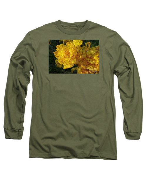 Yellow Abstraction Long Sleeve T-Shirt by Jean Bernard Roussilhe