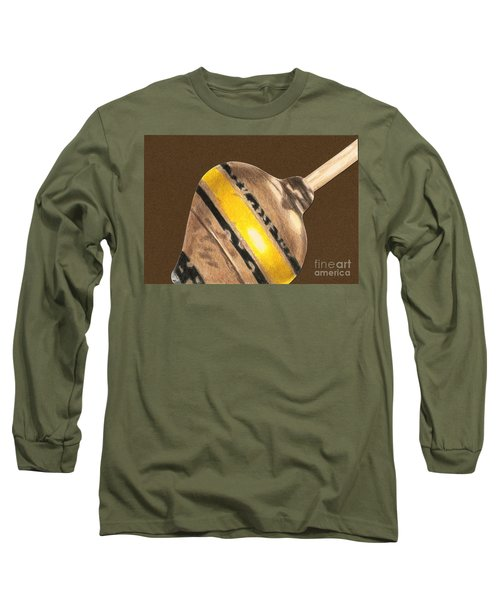 Yellow And Black Top Long Sleeve T-Shirt