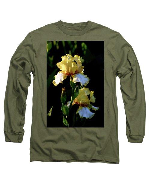 Yellow And White Irises 6681 H_2 Long Sleeve T-Shirt