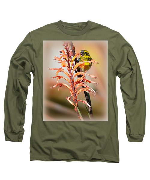 Long Sleeve T-Shirt featuring the photograph Yellow Bird Hi by AJ Schibig