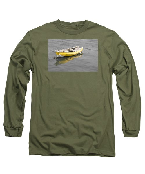 Yellow Boat Long Sleeve T-Shirt by Helen Northcott
