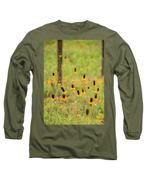 Yellow Cone Flower Long Sleeve T-Shirt