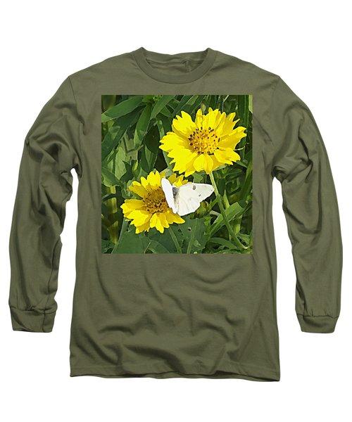 Yellow Cow Pen Daisies Long Sleeve T-Shirt