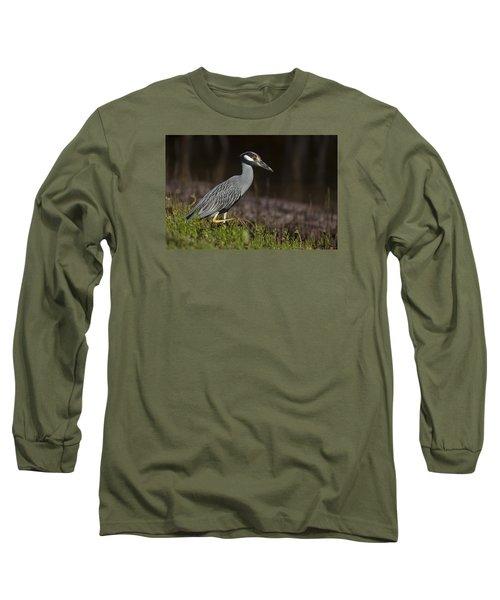 Yellow-crowned Night Heron Long Sleeve T-Shirt