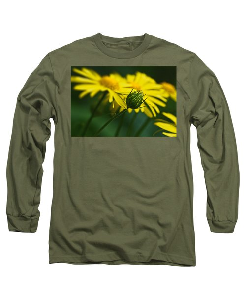 Yellow Daisy Bud Long Sleeve T-Shirt