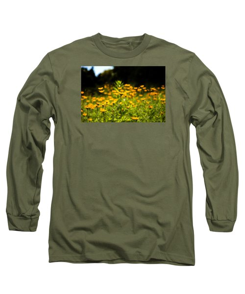 Yellow Field Long Sleeve T-Shirt by Milena Ilieva