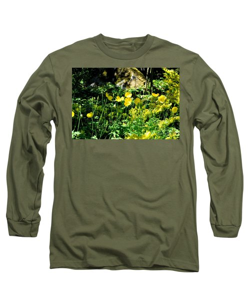 Long Sleeve T-Shirt featuring the photograph Yellow Flowers Bathing In The Sun by Tanya Searcy