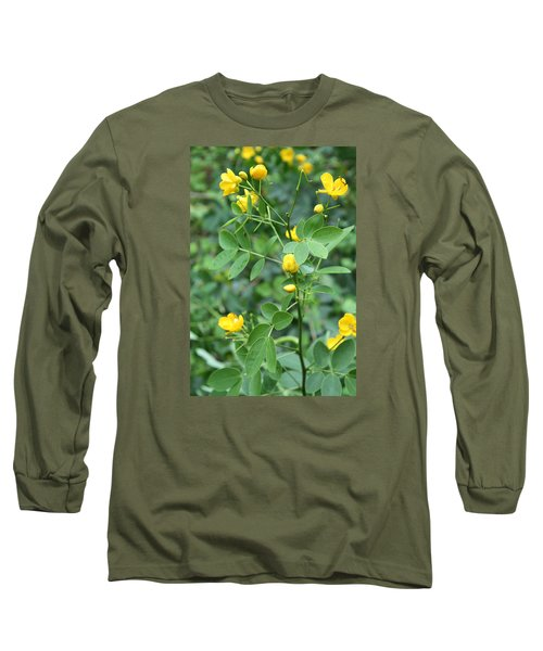 Long Sleeve T-Shirt featuring the photograph Yellow Flowers by Karen Nicholson