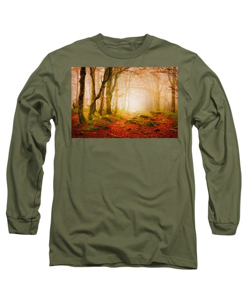 Yellow Forest Mist Long Sleeve T-Shirt