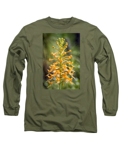 Yellow Fringed Orchid Long Sleeve T-Shirt