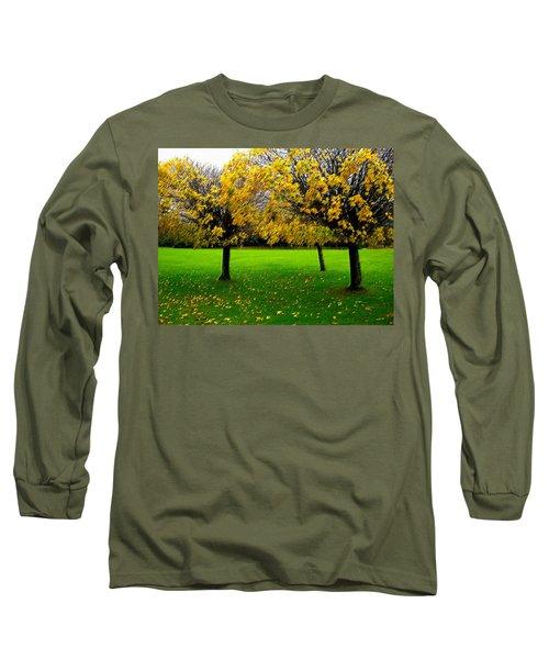 Yellow Leaves At Muckross Gardens Killarney Long Sleeve T-Shirt