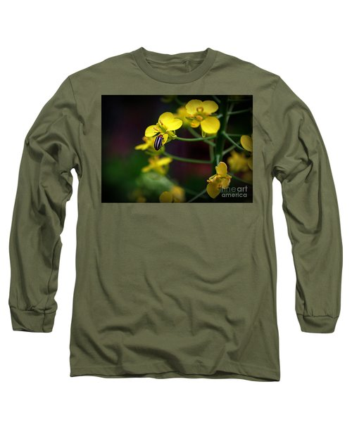 Long Sleeve T-Shirt featuring the photograph Yellow Lightning by Lisa L Silva