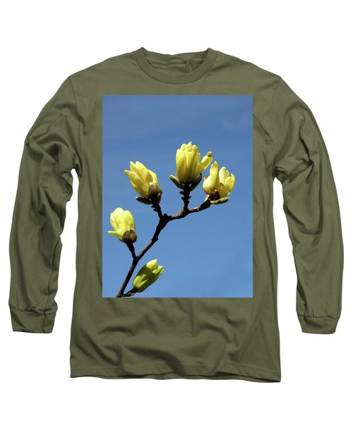 Yellow Magnolia Long Sleeve T-Shirt