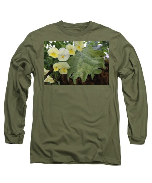 Yellow Pansies Long Sleeve T-Shirt