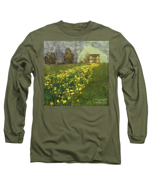 Yellow River To My Door Long Sleeve T-Shirt by LemonArt Photography