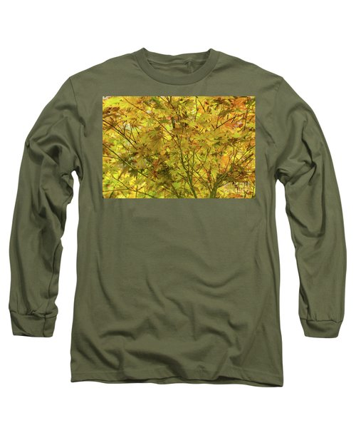 Yellow Spring Long Sleeve T-Shirt by Iris Greenwell