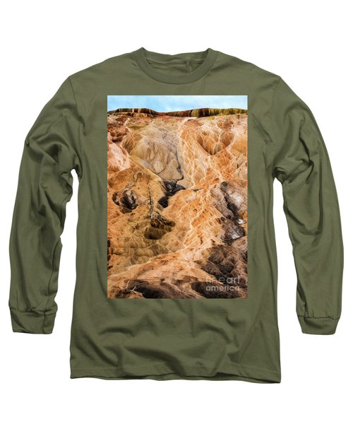 Long Sleeve T-Shirt featuring the photograph Yellow Stone National Park Abstract by Mae Wertz