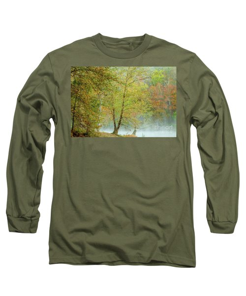 Yellow Trees Long Sleeve T-Shirt by Iris Greenwell