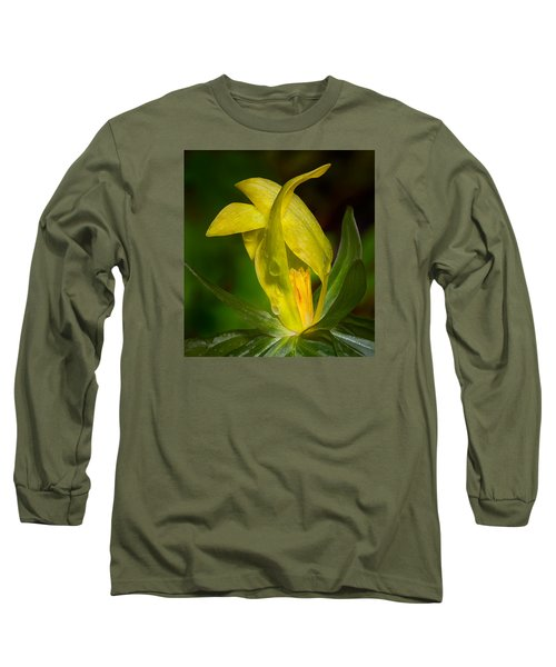 Long Sleeve T-Shirt featuring the photograph Yellow Trillium by Tyson and Kathy Smith