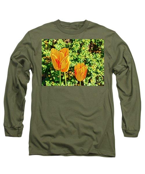 Yellow Tulip  Long Sleeve T-Shirt