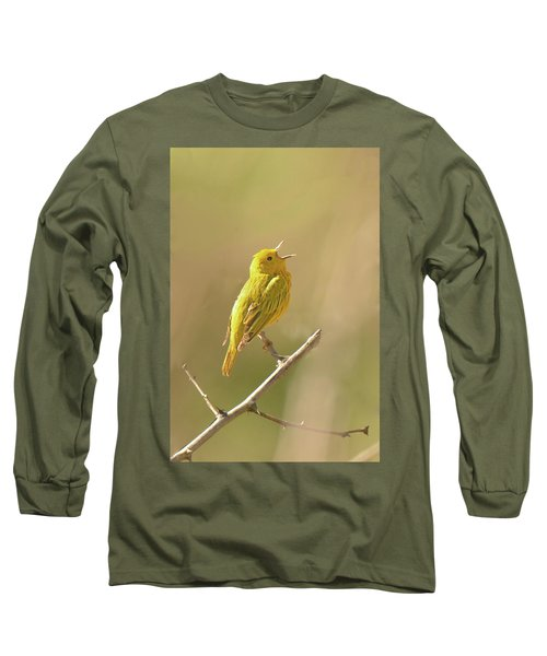 Yellow Warbler Song Long Sleeve T-Shirt