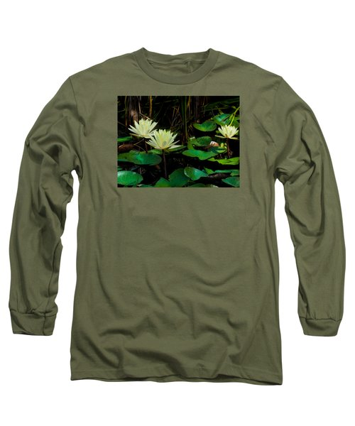 Yellow Water Lilies Long Sleeve T-Shirt