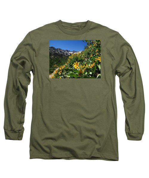 Yellow Wildflowers Long Sleeve T-Shirt