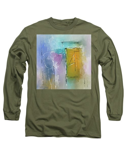 Yellows And Blues Long Sleeve T-Shirt