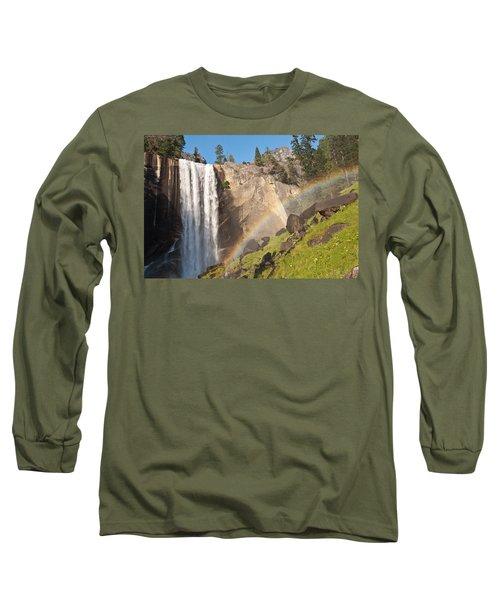 Yosemite Mist Trail Rainbow Long Sleeve T-Shirt