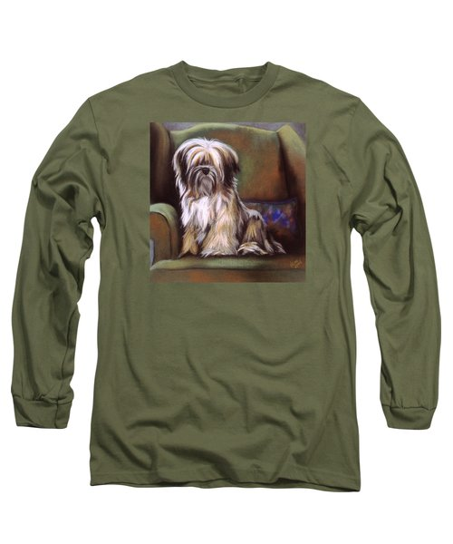 You Are In My Spot Again Long Sleeve T-Shirt by Barbara Keith