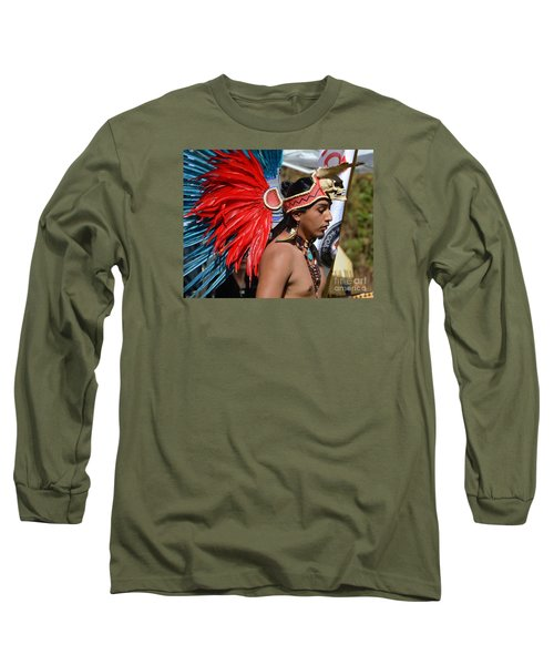 Young Aztec Portrait Long Sleeve T-Shirt
