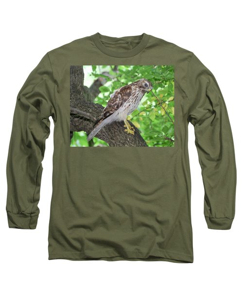 Young Red Shouldered Long Sleeve T-Shirt