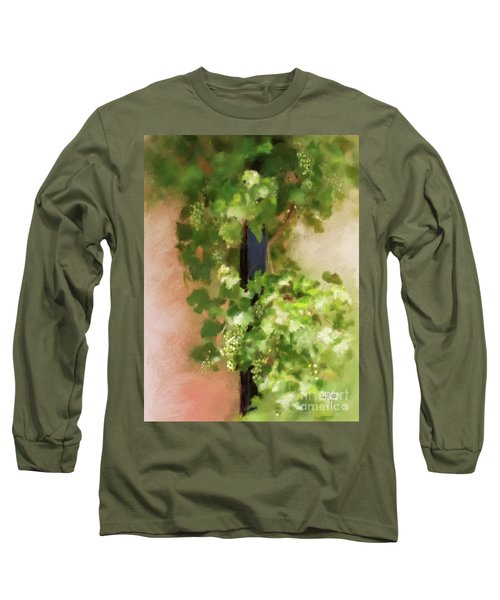 Long Sleeve T-Shirt featuring the digital art Young Greek Wine by Lois Bryan