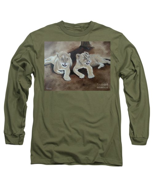 Young Lions Long Sleeve T-Shirt by Bev Conover