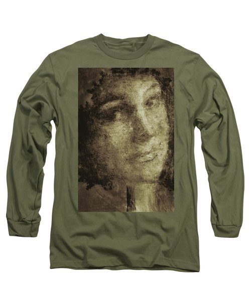 Young Mother Nature Digital Painting Long Sleeve T-Shirt