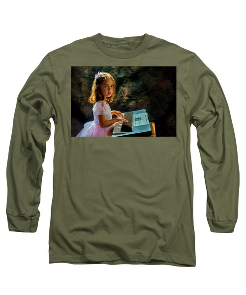Young Musician Long Sleeve T-Shirt by Kevin Cable